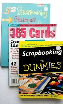 3 scrapbooking books creating keepsakes cards paper crafts challenges scrapbook