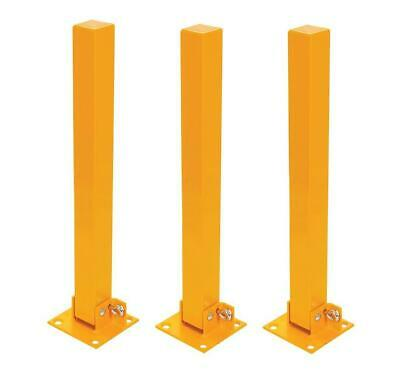 3x FOLD DOWN PARKING BARRIER SECURITY POST BOLLARD LOCKABLE DRIVEWAY