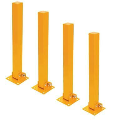 4x FOLD DOWN PARKING BARRIER SECURITY POST BOLLARD LOCKABLE DRIVEWAY