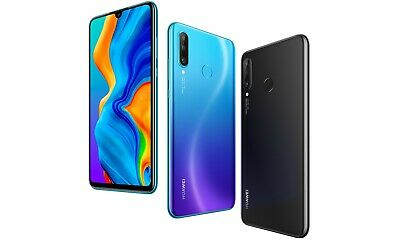New Huawei P30 Lite Dual Sim 128Gb 4G Lte Unlocked Phone Sealed Black Blue