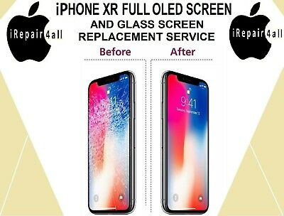 Apple Iphone Xr Full Oled Screen And Glass Screen Replacement Service - £73.99