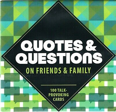 NEW Knock Knock Quotes Questions on Friends and Family: 100 Talk-Provoking Cards