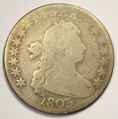 1803 Draped Bust Half Dollar 50C - VG Details Condition - Rare Early Coin