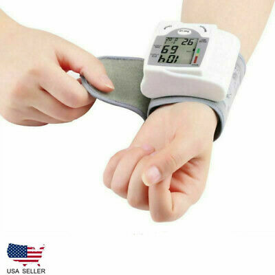 Automatic Digital LCD Wrist Type Blood Pressure Pulse Monitor Sphgmomanometer US