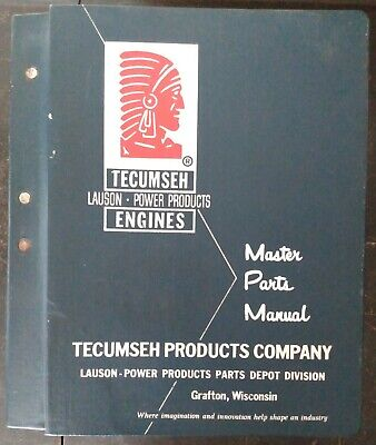 "Vintage Tecumseh Lauson Power Products Master Parts Manual 6"" Binder 60s 70s 80s"