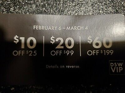 1 DSW Item. Mailed ONLY cannot email! $10 off $25 purchase