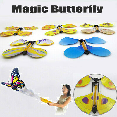 5Pcs Card Magic Flying out Butterfly Surprise Magic Props Mystical Trick Toy