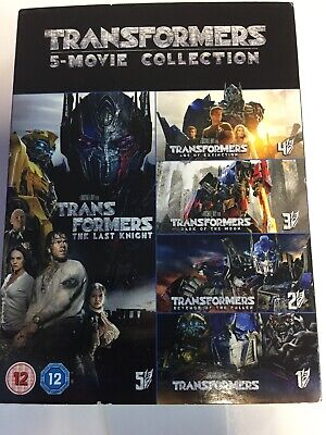 Transformers 5 Movie Collection (DVD, 2017, 6-Disc Set) Brand New Sealed