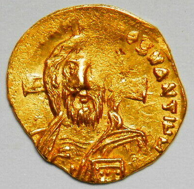 Byzantine Empire Justinian II (first reign) tremissis XF RR! (Sear:1256)