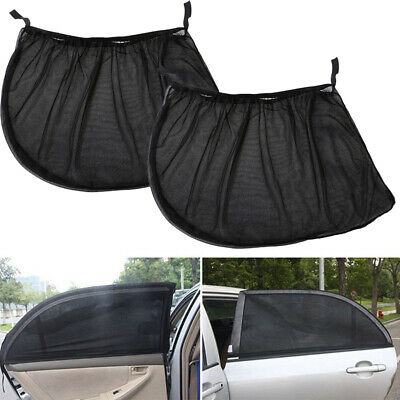 .2x Baby Van Car Window Sun Shade Visor Screen Protector Kids Rear Side Black