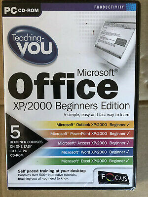 TEACHING YOU MICROSOFT OFFICE XP/2000 BEGINNERS EDITION - PC CD Rom - New