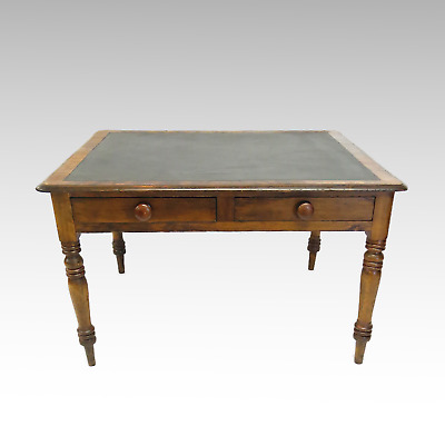 Large Antique library table - desk with 2 drawers #2543L