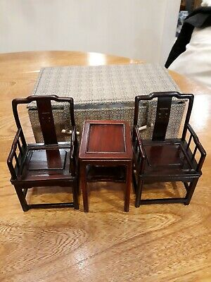 Antique Chinese Miniature Chairs And Table