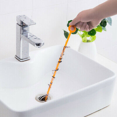 Hot 47.5cm Kitchen Sewer Dredging Device Tools Spring Pipe Sink Cleaning Hook ZE
