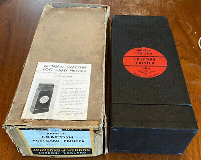 Vintage Johnson Exactum Postcard Printer Photography Enlarger Darkroom Boxed VGC