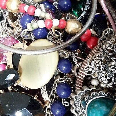 Jewelry Lot 1 Pound Vintage To Modern Costume