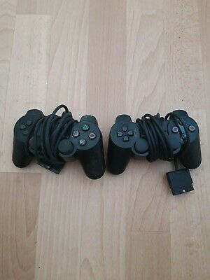 2 Official Original Sony DualShock 2 Wired Playstation PS2 Controller Pad Black