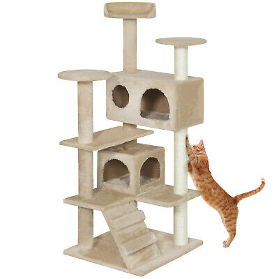 Multi-Level Cat Tree 53 Inch with Scratcher Kitten Play House Condo Furniture