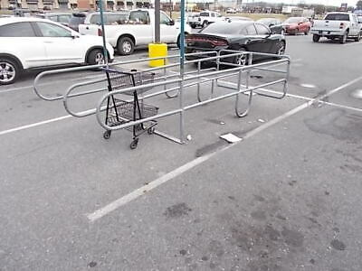 Outdoor Galvanized Shopping Cart Corral Double Row