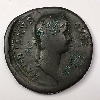 HADRIAN SESTERSIUS ANCIENT COIN - ROME 117-138 AD - 34 mm