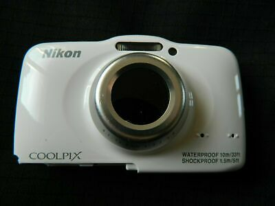 Used Nikon S32 Digital Camera white front cover only