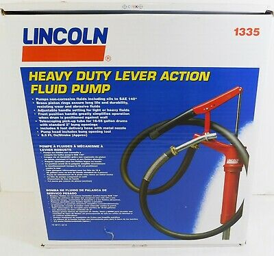 Lincoln Heavy Duty Hand Operated Lever Action Drum Pump with Spout 1335