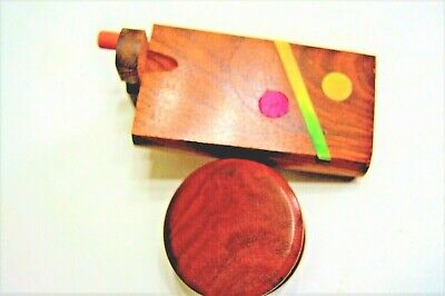 "1 Handmade 4"" Wooden Dugout, 3"" Metal One Hitter Batt Pipe + 1  Wood Grinder"