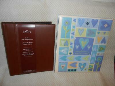 "Hallmark Photo Albums -Leather  8"" X 10"" & Heart Design Memories 10"" X 12"" Nos"