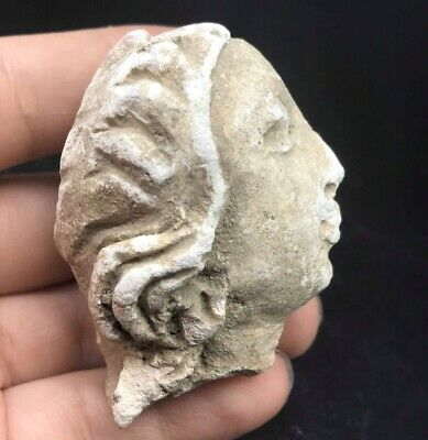 Very Ancient Old Roman Period Lady Terccotta Clay Head
