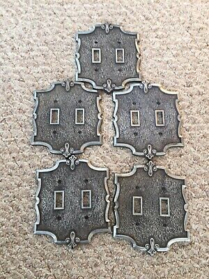 Lot Of 5 Vintage Metal Switch Plate Covers