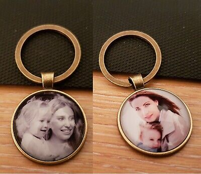 Personalised Custom Photo Keyring Present Personal Mother Father Friend Family