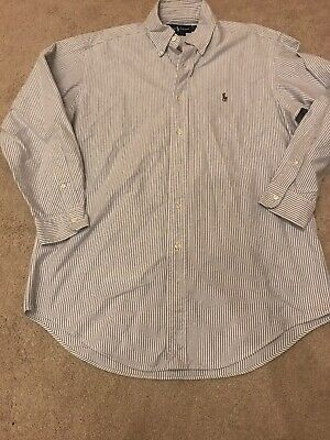 Mens Ralph Lauren Polo Long Sleeved Shirt Size 15.5 Collar Yarmouth