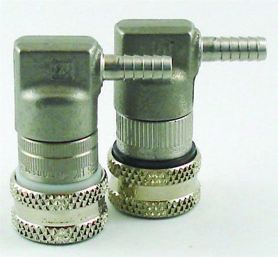 TUTHILL S/S  BALL LOCK GAS QUICK DISCONNECT Fttg - BARBED END