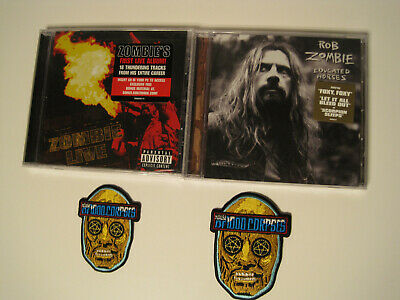 Rob Zombie ZOMBIE LIVE Educated Horses HOUSE OF 1000 CORPSES lot 4 items CDs