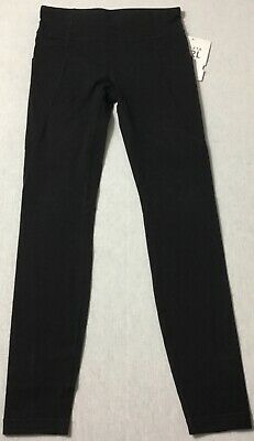 Athleta GIRL Stash Your Treasures Tight 372043 Black Size M/8-10
