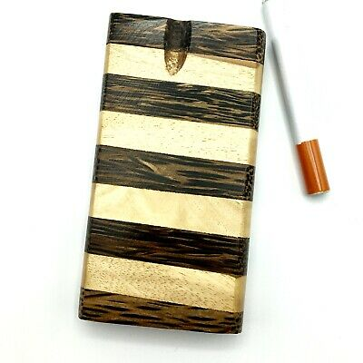 Dugout One Hitter Wood Stash Box Wooden Pattern GrassFire Pipe FREE Shipping