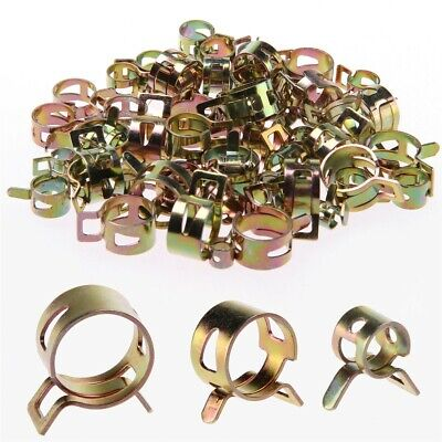 10Pc Metal Spring Petrol Pipe Clips Spring Steel for Motorcycle Secure Fuel Hose