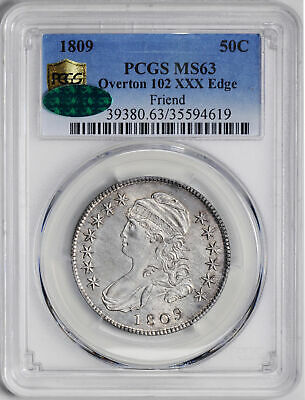 1809 Capped Bust 50C Pcgs Ms 63