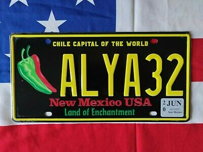 Plaque d'immatriculation New Mexico ALYA32 US USA License Plate