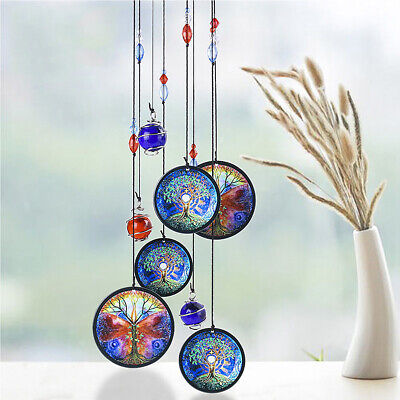 Tree of Life 17'' Wind Chime Metal Hanging Ornament Garden Outdoor Home Decor US