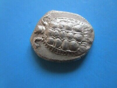 Ancient East Celtic Imitation Silver Greek Coin.Turtle