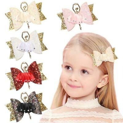 Girls Bow Knot Barrettes Cute Glitter Hairpin Clip Kids Children Hair Acces R7V6