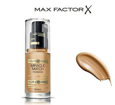 Maxfactor X Miracle Match Foundation Blur & Nourish  75 Golden 30Ml