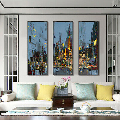 Modern Night Street Canvas Poster Picture Wall Hangings Living Room Home Decor