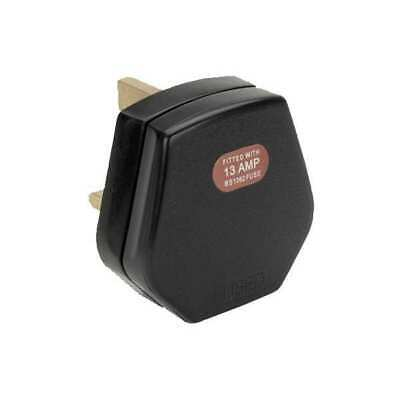 Heavy Duty Hard High Impact Tough Plug Top 13Amp Electrical Black Or White