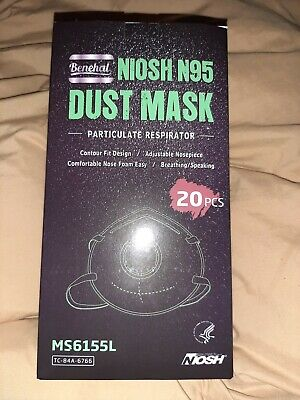 20 Mask/Box Niosh N95 Benehal Mask Particulate Respirator