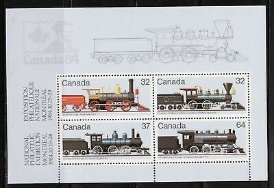 Canada Scotts #1039a 1984 Steam Locomotives Sheet of 4, MNH VF