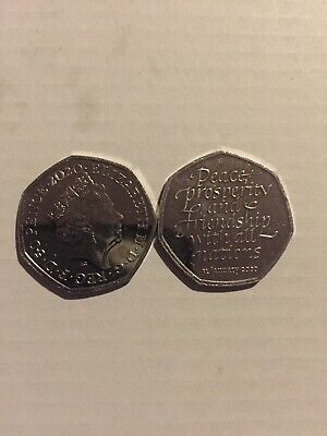 New 2020 Uncirculated Brexit 50P Coin