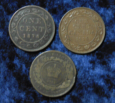 1876 H, 1918 Canada And 1861 New Brunswick Large Cents