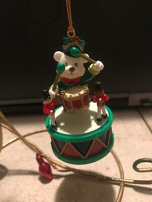 Mistletoe Magic/Non Enesco Christmas Ornament: White Polar Bear Drummer New